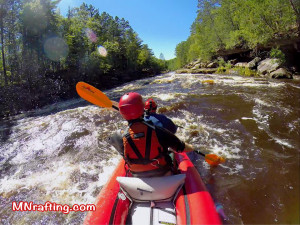 Minnesota rafting on the Kettle River Banning State Park
