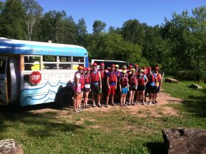 shuttle bus for mn rafting